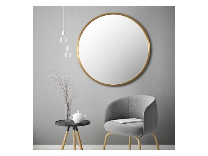 SCANDI ZŁOTE okrągłe lustro w skandynawskim stylu