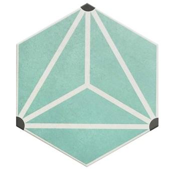 Osaka Aqua 28,5x33 płytka heksagonalna
