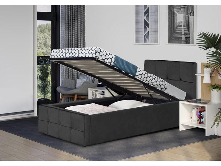 Łóżko tapicerowane 90X200 SFG004 popiel welur