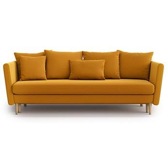 Sofa Joleen 3-osobowa z funkcją spania, Golden Velvet