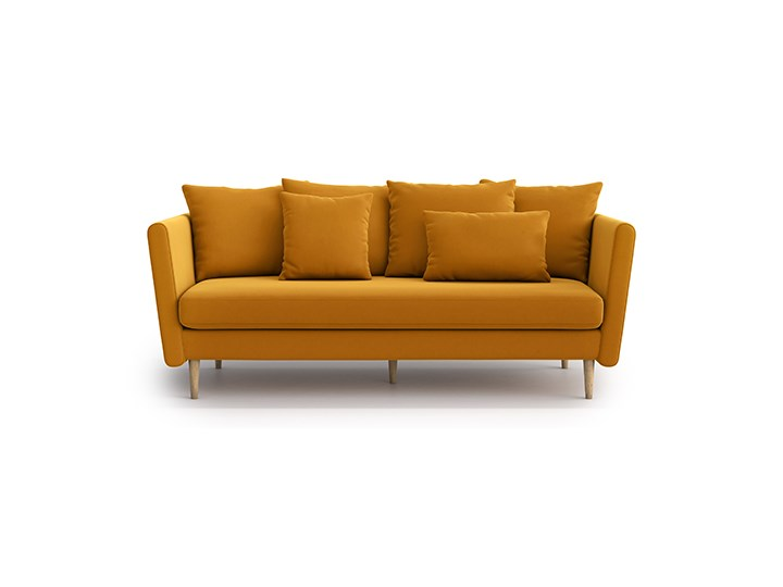 Sofa 3-osobowa Joleen, Golden Velvet Typ Gładkie Głębokość 88 cm Stała konstrukcja Pomieszczenie Salon