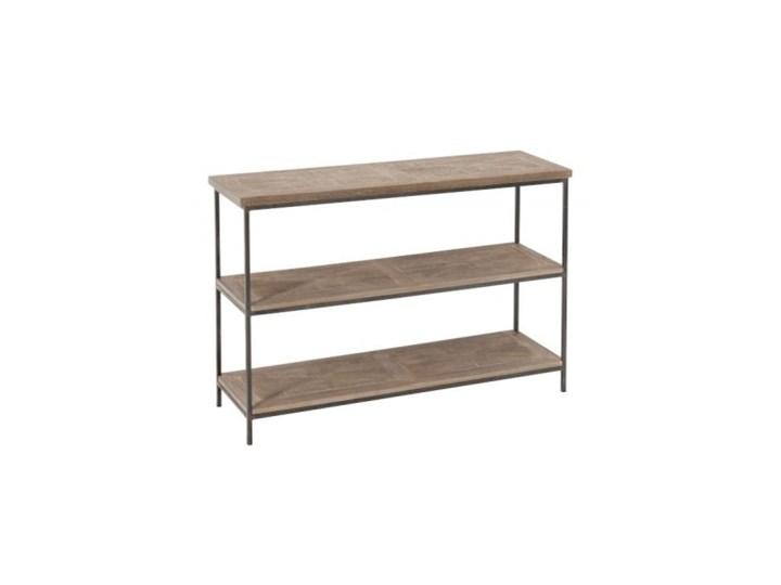 Konsola dekoracyjna Shelves Wood, drewno, metal, 80x120x38 cm (JL90011)