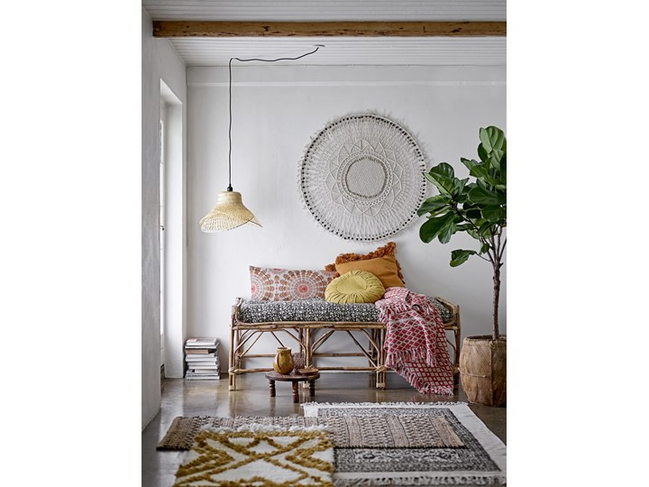 PODUSZKA Z WYPEŁNIENIEM BLOOMINGVILLE 50x50 cm Bawełna Poduszka dekoracyjna Kwadratowe Poliester Pomieszczenie Sypialnia