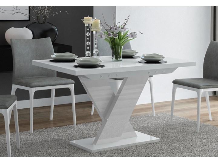 Biały stół rozkładany do jadalni w wysokim połysku Oskar Pomieszczenie Stoły do jadalni