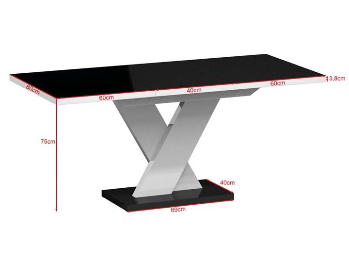 Biały stół rozkładany do jadalni w wysokim połysku Oskar Pomieszczenie Stoły do jadalni Rozkładanie Rozkładane