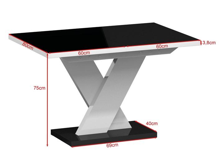 Biały stół rozkładany do jadalni w wysokim połysku Oskar Rozkładanie