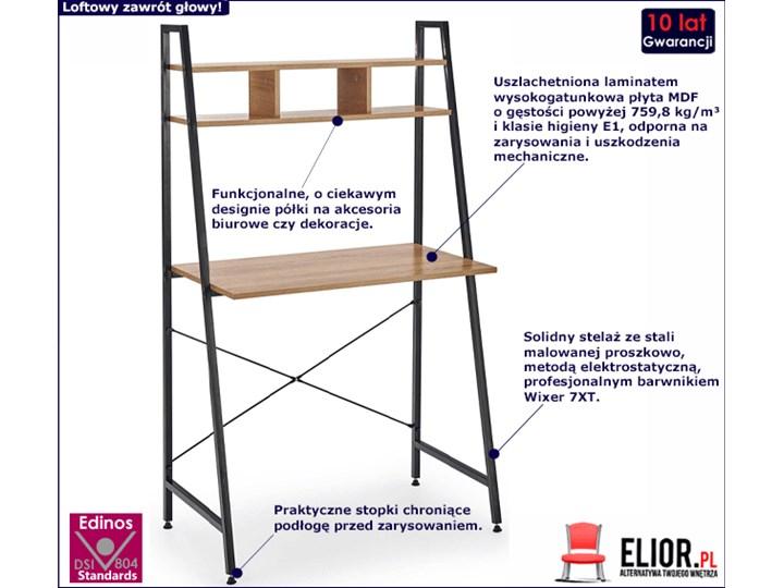 Loftowe biurko Lusso 3X - dąb sonoma Szerokość 84 cm Biurko drabina Głębokość 46 cm Styl Vintage Styl Industrialny