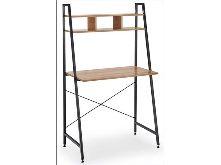 Loftowe biurko Lusso 3X - dąb sonoma Kolor Czarny Biurko drabina Szerokość 84 cm Głębokość 46 cm Styl Nowoczesny