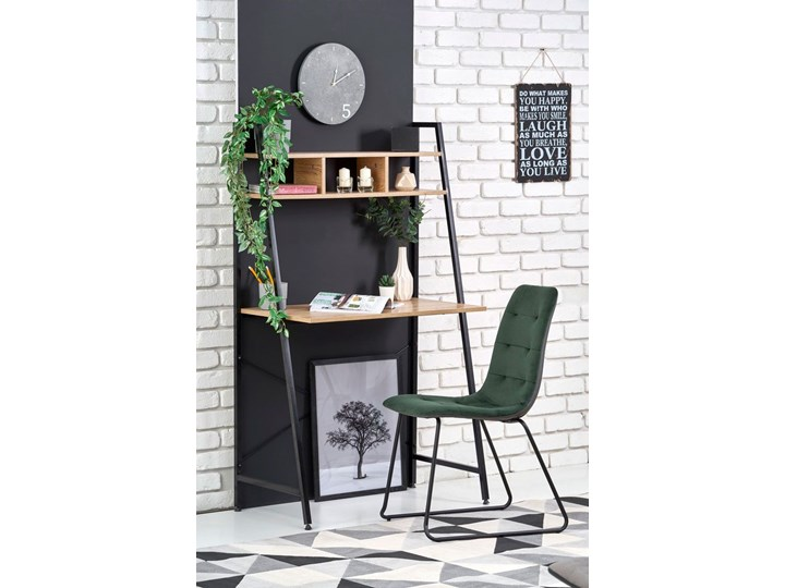 Loftowe biurko Lusso 3X - dąb sonoma Biurko drabina Głębokość 46 cm Szerokość 84 cm Styl Industrialny