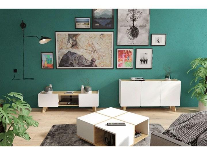Skandynawska komoda z półkami Larso 3X Z szafkami Pomieszczenie Pokój nastolatka Pomieszczenie Sypialnia