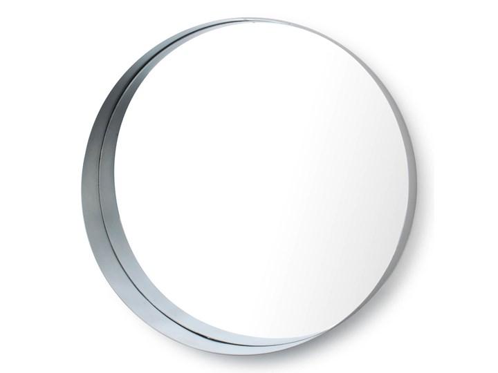 LUSTRO SREBRNE W METALOWEJ RAMIE 50x50x8cm Ścienne Styl Glamour Kolor Srebrny