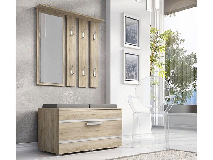 Garderoba z lustrem i szafką na buty Malea - dąb sonoma Kategoria Zestawy mebli do sypialni Kolor Beżowy