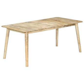Stół bielony z drewna mango Kelis 2X – naturalny