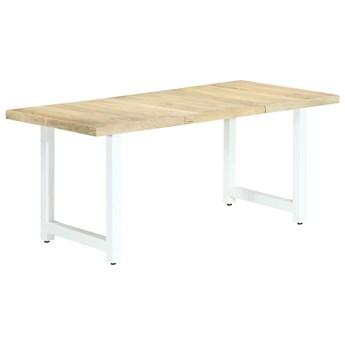 Stół z litego mango Buzel 2X – jasnobrązowy i biały