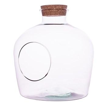 Szklane terrarium W-480A+boczny otwór+korek H:27cm D:23cm