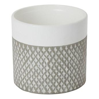 Doniczka ceramiczna GoodHome ozdobna 12 cm szara