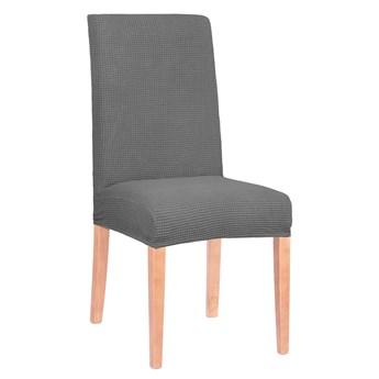 Pokrowiec na krzesło elastyczny grafitowa kratka