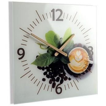 Zegar kwadratowy szklany COFFEE 3