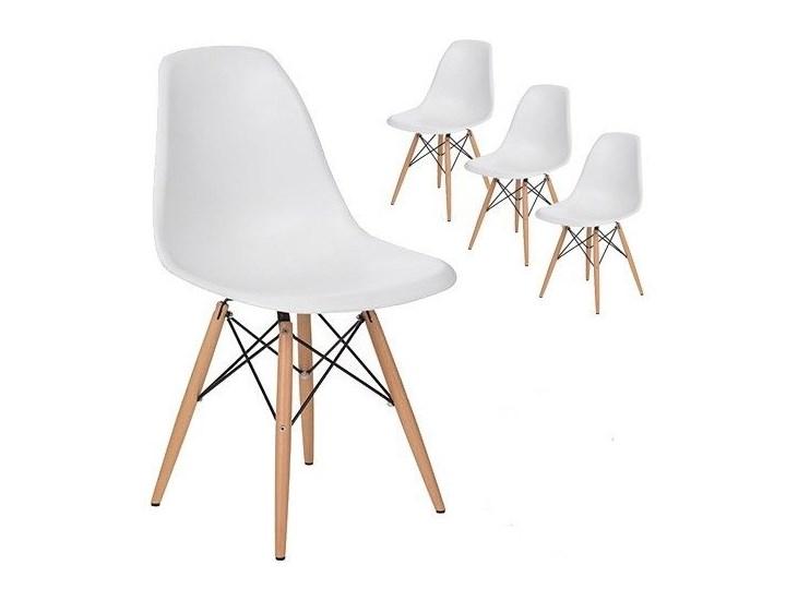 Zestaw 4 x nowoczesne krzesło DSW Milano białe