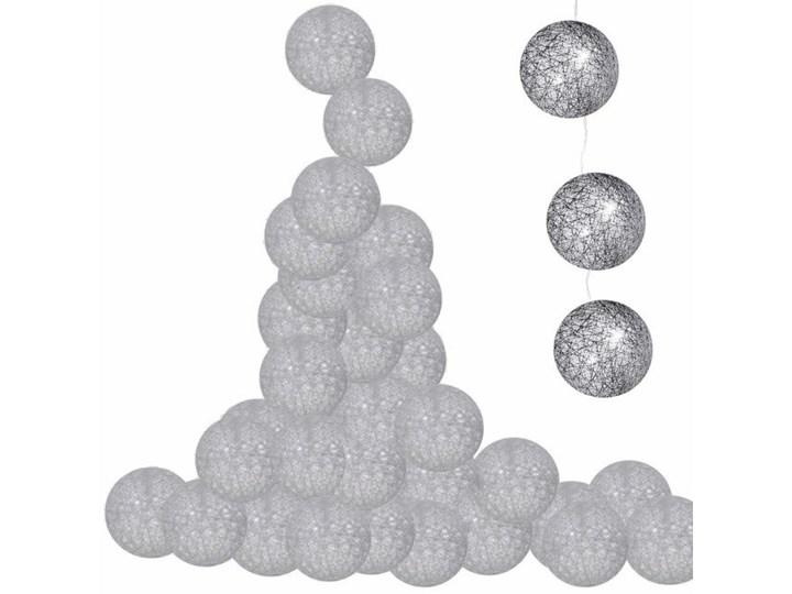Lampki dekoracyjne cotton balls 20 LED 20 kul szare