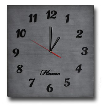 Duży zegar Home drewniany - kolory