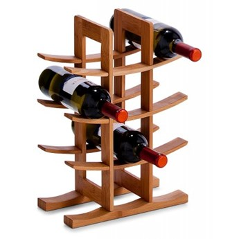 Bambusowy stojak na wino - 12 butelek
