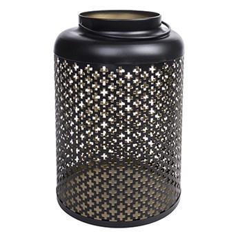 Lampion metalowy czarny
