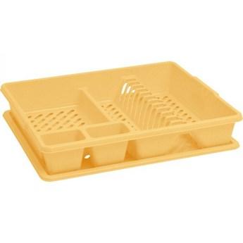 Żółta suszarka do naczyń Lux Curver 45x38