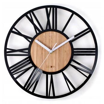 Duży zegar drewno loft