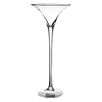 Elegancki szklany świecznik