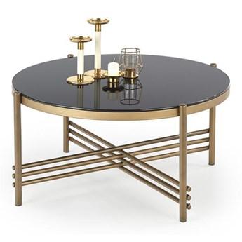 Ciekawy stolik kawowy złoty