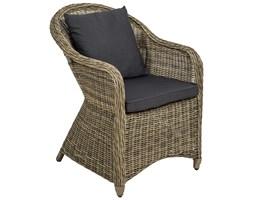 Fotel ogrodowy z polirattanu i aluminium + poduszki naturalny