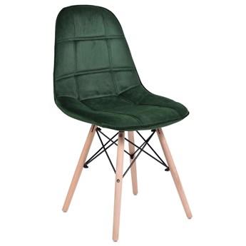 Krzesło tapicerowane DSW Lyon - ciemno-zielony VELVET