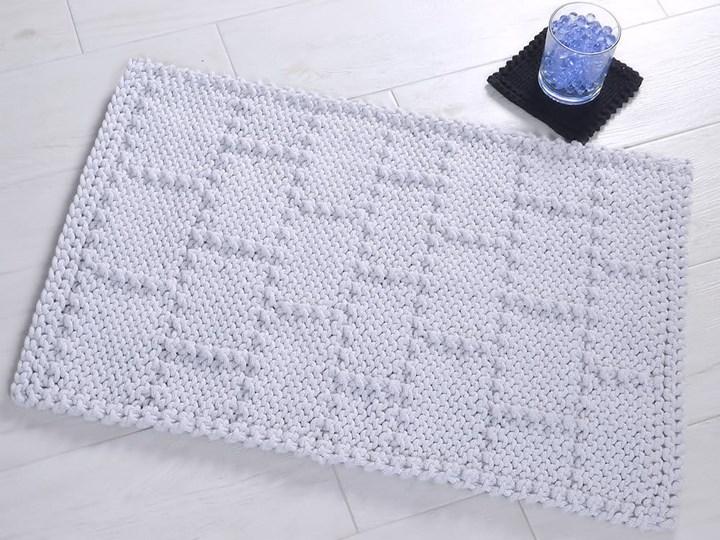 Dywanik łazienkowy, wzór cegły, wybór kolorów i rozmiarów 60x100 cm 40x50 cm 50x70 cm Bawełna Kolor Biały