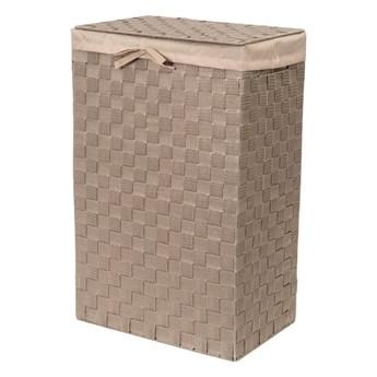 Brązowy kosz na pranie z pokrywką Compactor Laundry Basket Linen, wys. 60 cm