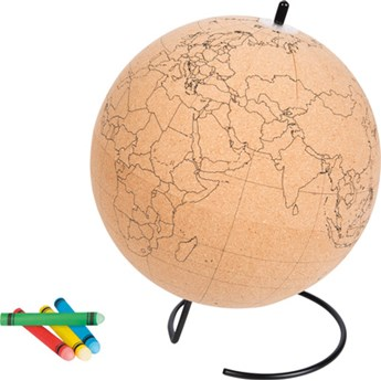 Globus do kolorowania korek