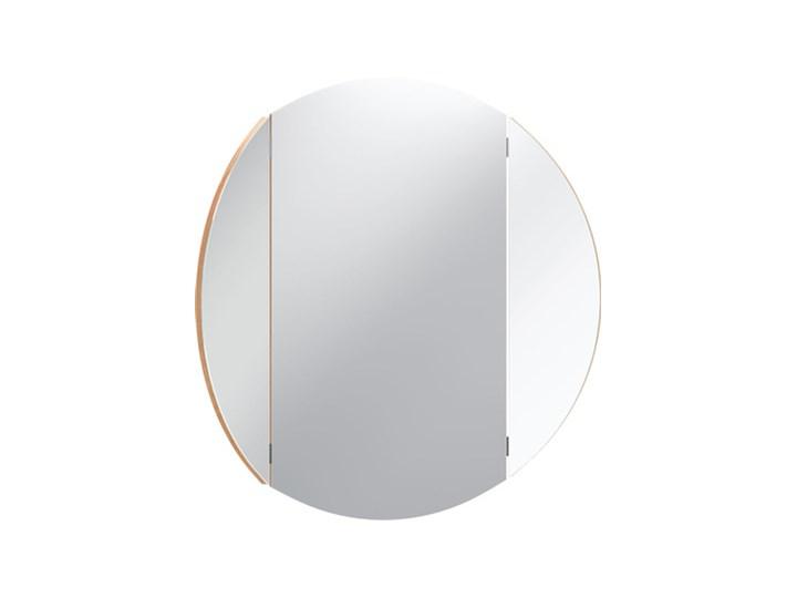 Lustro okrągłe teatralne Ścienne Lustro bez ramy Kolor Srebrny Kategoria Lustra