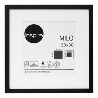 Ramka na zdjęcia Milo 30 x 30 cm czarna MDF Inspire