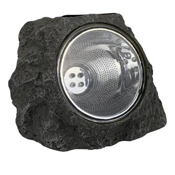 Lampa solarna KAMIEŃ DUŻY IP44 szara 2 x LED JUMI