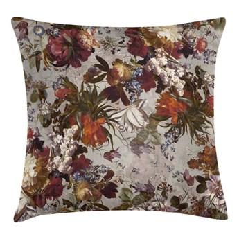 Poduszka w kwiaty Ituaiga szara 45 x 45 cm
