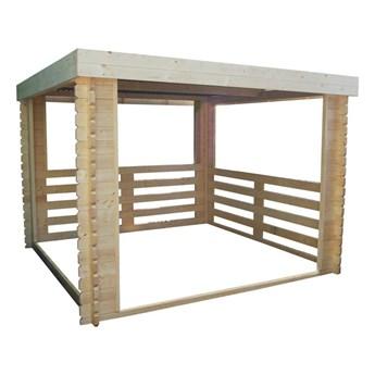 Altana ogrodowa WĘGŁOWA 302 x 306 cm drewniana WERTH-HOLZ