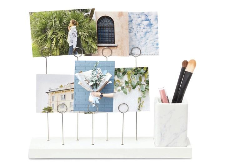 Umbra - Rustykalny stojak na 7 zdjęć + przybornik Biały GALA