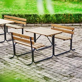 Stół piknikowy PARK, 1000 mm, brązowy