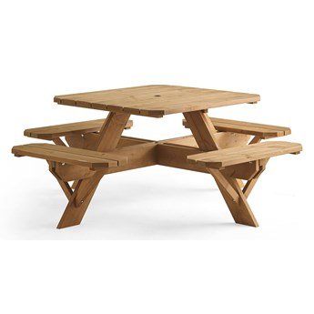 Stół piknikowy TIME-OUT, brązowy