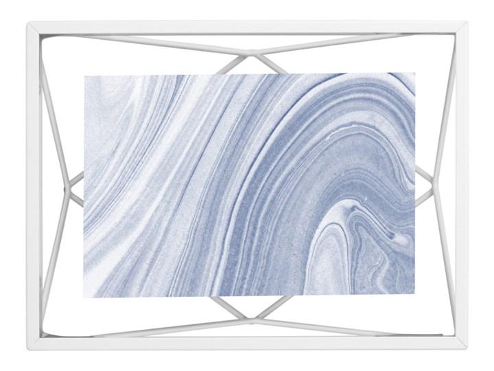Umbra - Industrialna ramka na zdjęcia 10x15 cm stojąca / wisząca Biała PRISMA
