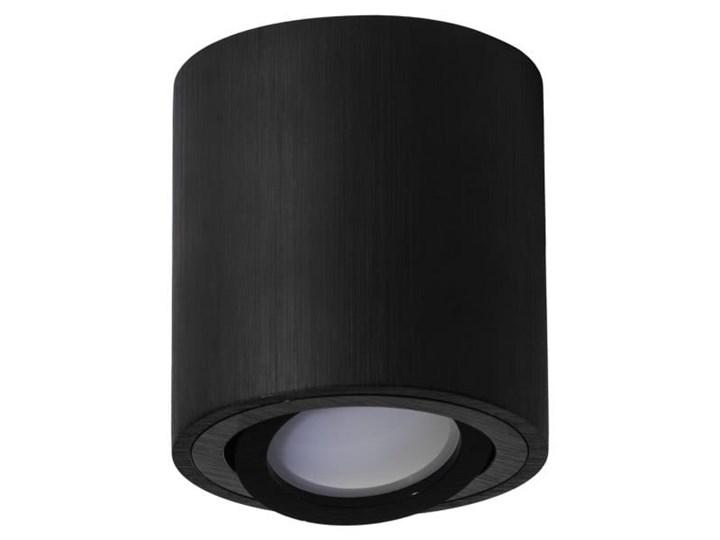 Round H84 lampa sufitowa 1-punktowa kierunkowa czarna