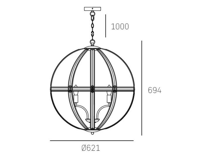 Lampa wisząca ORLANDO P05735CH Cosmolight P05735CH Kryształ Metal Kategoria Lampy wiszące Lampa z kryształkami Szkło Kolor Srebrny