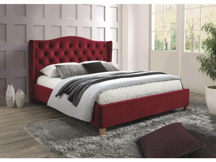 Łóżko ASPEN 160 burgund Łóżko tapicerowane Kolor Brązowy