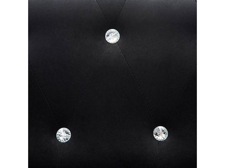 Aksamitny narożnik  w stylu Chesterfield Charlotte 4Q - czarny Wysokość 42 cm Wysokość 72 cm Szerokość 142 cm Szerokość 199 cm Szerokość 165 cm Typ Gładkie