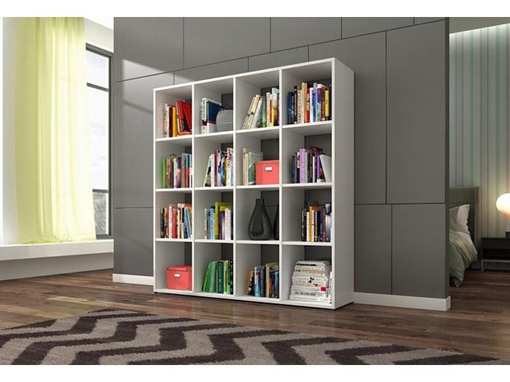 Biblioteczka regał Maleo 3X - biały Pomieszczenie Salon Wysokość 145 cm Biblioteka Na książki Szerokość 137 cm Kategoria Witryny